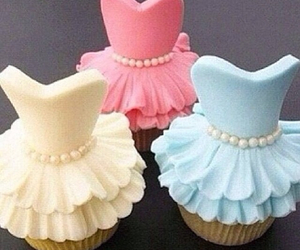 dress, cupcake, and cute image