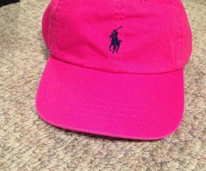 hat, pink, and Polo image