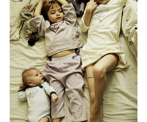 baby, brothers, and family image