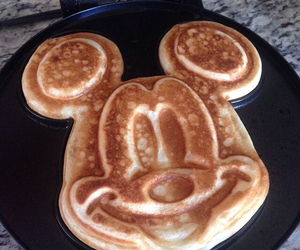 disney, mickey mouse, and waffle image