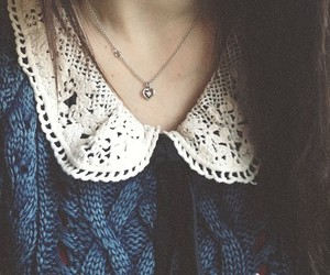 girl, vintage, and necklace image
