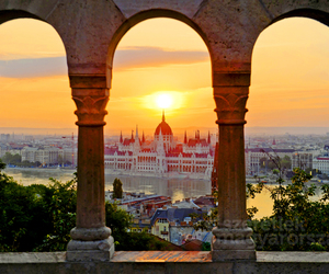 city, budapest, and beautiful image