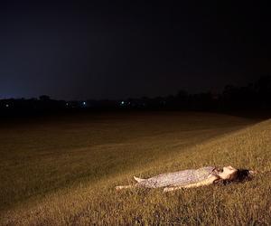 girl, night, and sky image