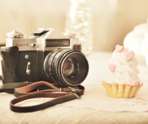 camera, cupcake, and photography image