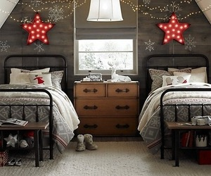 christmas, bedroom, and winter image
