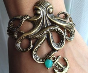 bracelet, octopus, and anchor image