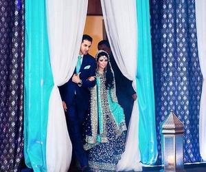 wedding, blue, and bride image