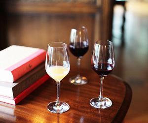 books and wine image