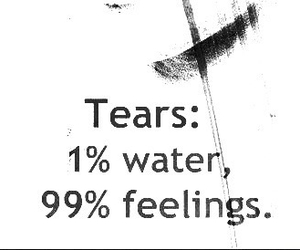 feelings, tears, and quotes image