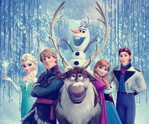 frozen, olaf, and elsa image