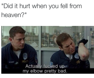 funny, heaven, and 21 jump street image