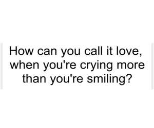 cry, smile, and love image
