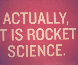 rocket science and text image