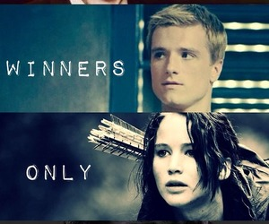 katniss, the hunger games, and peeta image