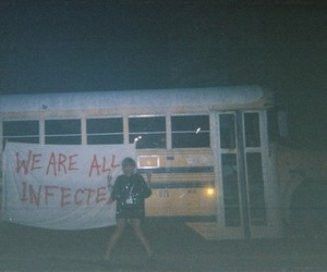 grunge, bus, and dark image
