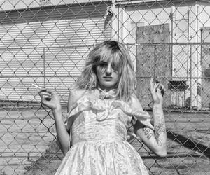 black and white, california girl, and cigarette image