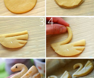 food, Swan, and cookie image