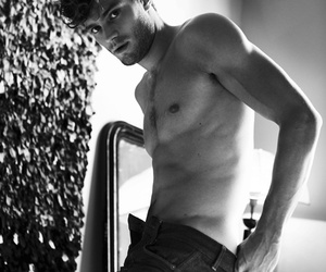 black & white, Jamie Dornan, and models image