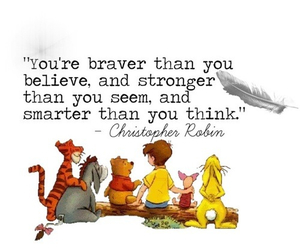 brave, pooh, and quotes image