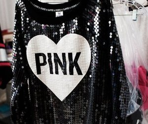 pink, Victoria's Secret, and black image