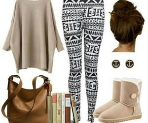 fashion, leggings, and outfit image