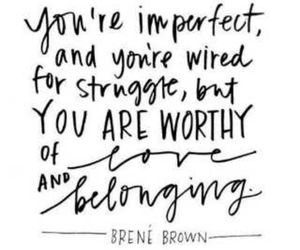 quote, love, and imperfect image