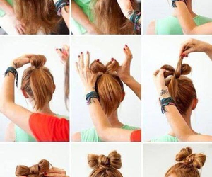 bow, girly, and braids image
