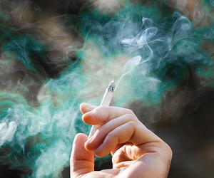 smoke, cigarette, and hand image