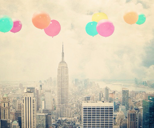 balloons, city, and pretty image