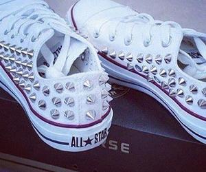 converse, studs, and white image