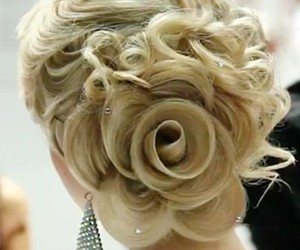 hair, blonde, and rose image
