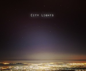 city, city lights, and photography image