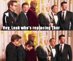 robert downey jr, thor, and funny image