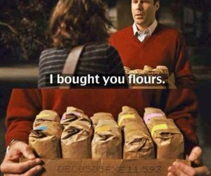 flour, movie, and stranger than fiction image