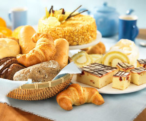 food, cake, and croissant image