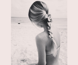 beach, beautiful, and black and white image