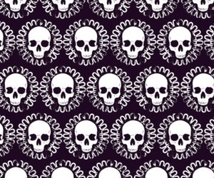 pattern and skull image