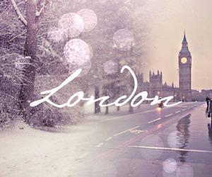 london, Big Ben, and snow image