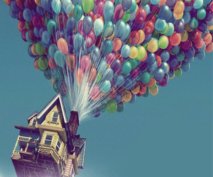 balloon, movie, and up image
