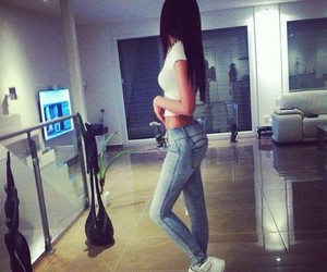 girl, hair, and jeans image