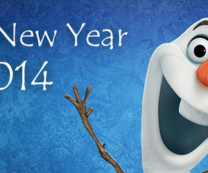 frozen, happy new year, and new year image