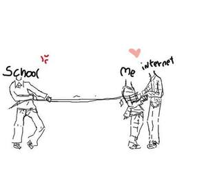 school, internet, and me image
