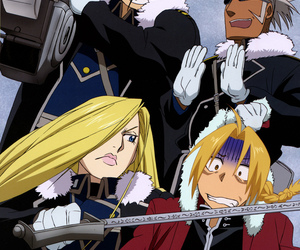 miles, edward elric, and olivier mira armstrong image