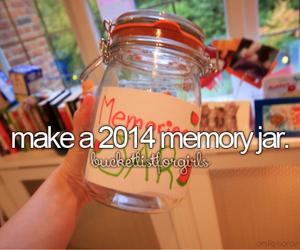 memories, jar, and 2014 image
