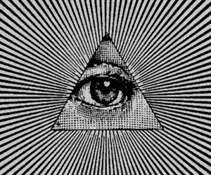 eye, triangle, and pink image