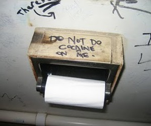 cocaine, drugs, and toilet image