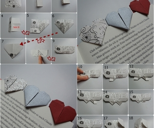 heart, herz, and book mark image