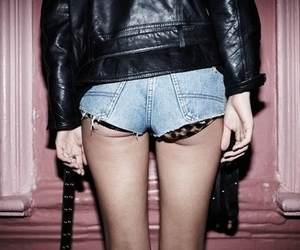80's, leather jacket, and leopard print image
