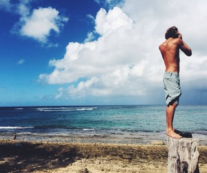 boy, sea, and love image