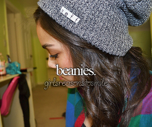 beanies, little reasons to smile, and just girly things image